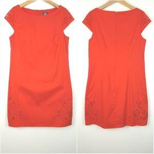 VINCE CAMUTO| Red Poplin Shift Dress Size 10